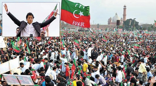 Imran Khan addressing Jalsa in Lahore on 23-3-2013