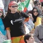 PTI Rally Jalsa - Girl in T-shirt