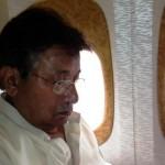 Pervez Musharraf in plane enroute Dubai to Karachi