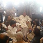 Pervez Musharraf with APML workers at Karachi Air Port