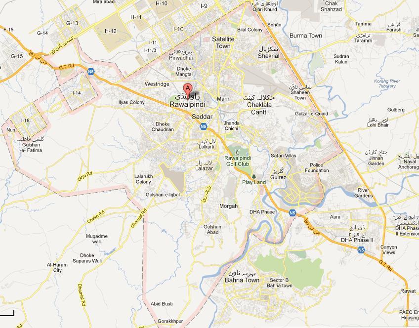 Rawalpindi City Map