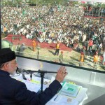 Tahirul Qadri Addressing in Bullet Proof Container at Liaqat Bagh Rawalpindi on Sunday, 17th March, 2013
