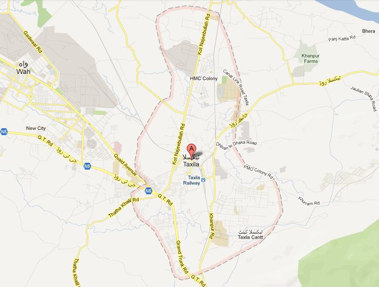 Taxila Street Map NA 53 Rawalpindi