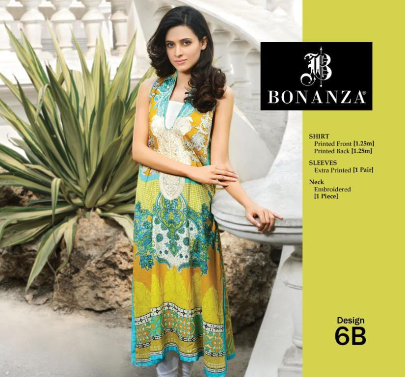 0504afec4f7 Bonanza Lawn Collection For Spring Summer 2013 – Paki Mag