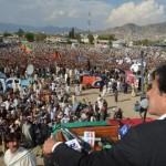 IMran Khan PTI Jalsa in Mingora Swat - a view
