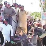 Jamshaid Dasto on Donkey Cart in Muzaffar Garh