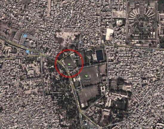 Location Satellite Map Hockey Stadium Bahawalpur