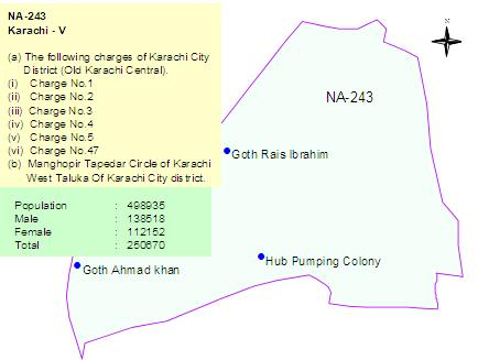 NA 243 Karachi Constituency Map