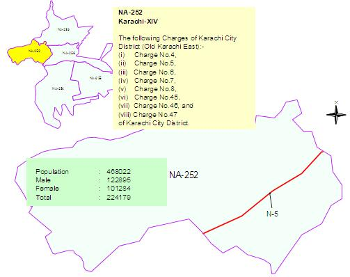NA-252 Karachi Constituency Map