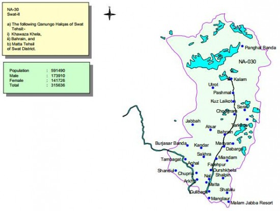 NA-30 Swat Constituency Map