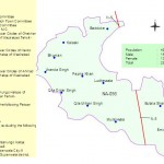 NA-98 Gujranwala Constituency Map - Ghakkar, Ladhewala, Eminabad, Ferozewala, Qila Dedar Singh