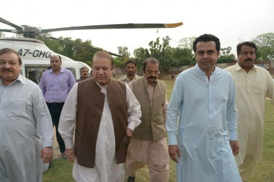 Muhammad Talal Ch. with Nawaz Sharif