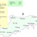PP-126 Sialkot Constituency Map - Chawinda, Philara, Lundeke
