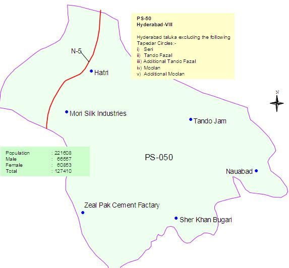 PS-50 Hyderabad Sindh Constituency Map – Paki Mag