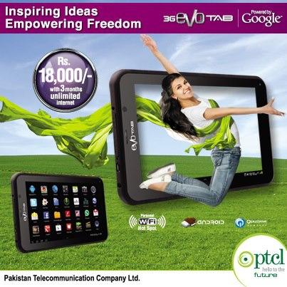 PTCL New Evo Tab