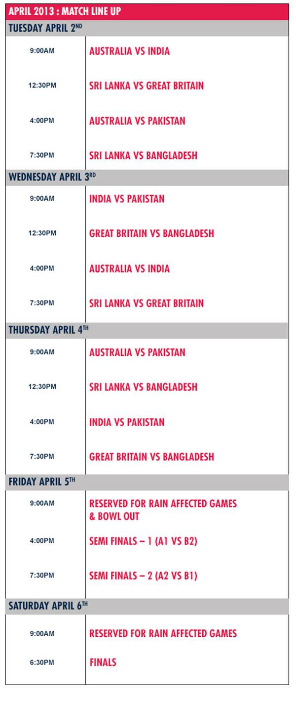 Red Bull College Cricket Schedule