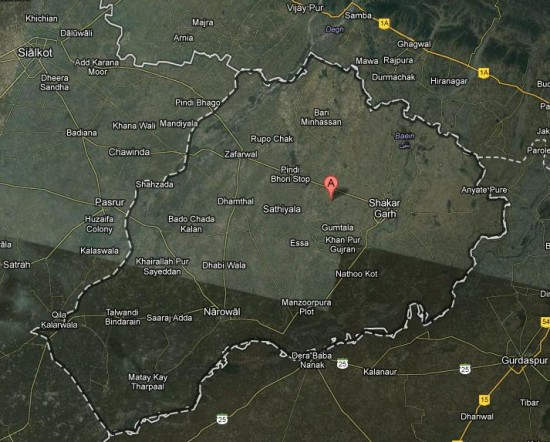 Satellite Map District Narowal