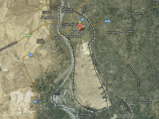 Hyderabad Satellite Map Satellite Map Hyderabad City Sindh – Paki Mag