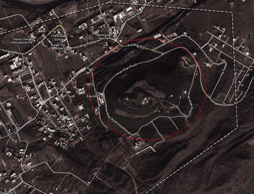 Satellite Map Imran Khan House In Bani Gala Islamabad - Best satellite image maps