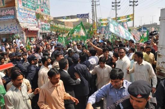 Shahbaz Sharif visit NA 129 Lahore Areas