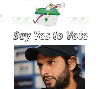 Cricketer Boom Boom Shahid Afridi in Election Video