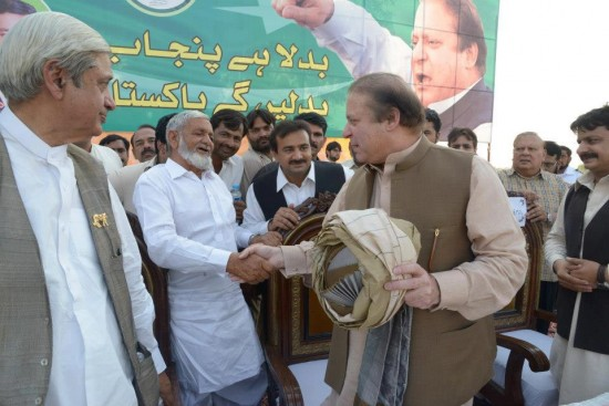 Nawaz Sharif in PMLN Jalsa Kabirwala with Fakhar Imam and Rana Abdul Rehman