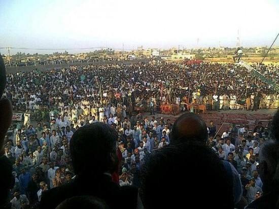 PMLN Naza Sharif Jalsa Thatha