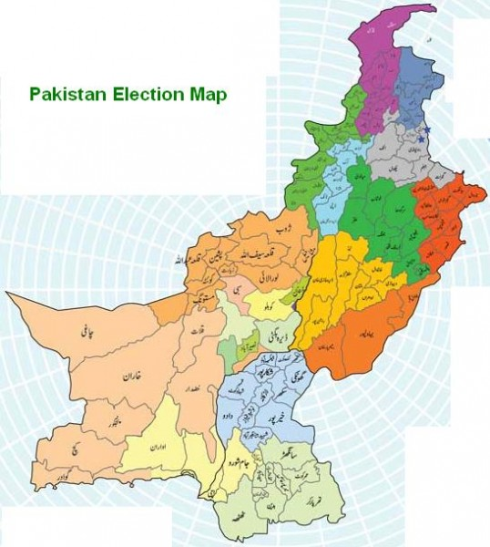 Pakistan Map and Election Result 2013