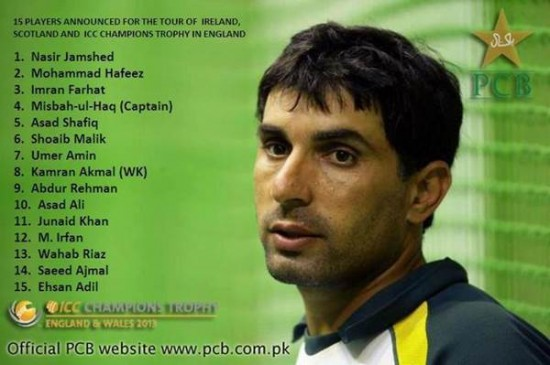 Pakistan Team Squad 2013