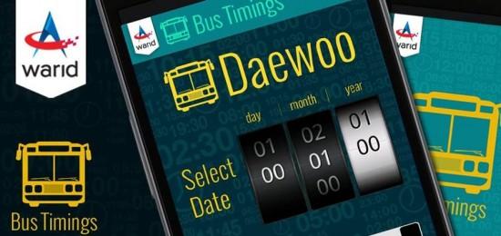 Warid Bus Schedule App