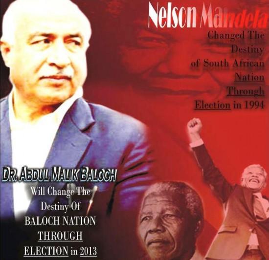 Dr Abdul Malik Baloch and Nelson Mandela