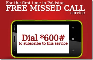 Mobilink Missed Call Offer