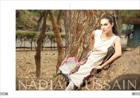 Nadia Hussain Premium Lawn 9