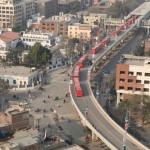 Lahore Metro Bus Aerial View