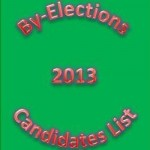 List of Candidates Of Bye Elections 2013