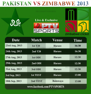 Pakistan Zimbabwe Match Timing