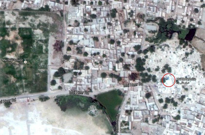 Satellite Location Map Heer Ranjha Shrine Jhang - Satellite location map