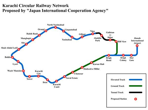 Karachi Circular railway project Proposed Route and Stations