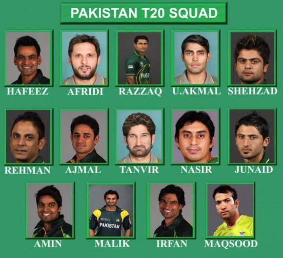 Pakistan T20 Squad 2013