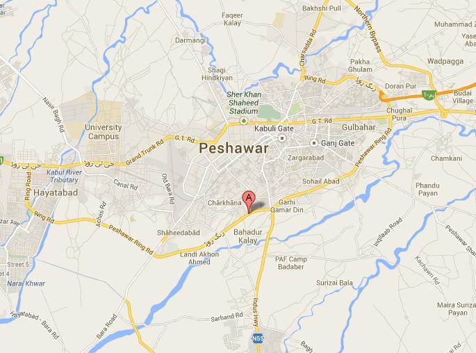 Peshawar Ring Road Location Map