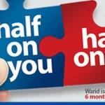 Warid Half Bill Offer For Postpaid Customers