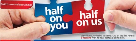 Warid Postpaid Half Bill