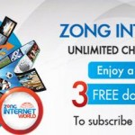 Zong Internet World New Packages 2013
