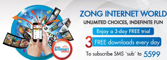 Zong Internet Packages 2013