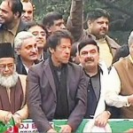 Imran Khan With Shaikh Rasheed in Lahore Rally
