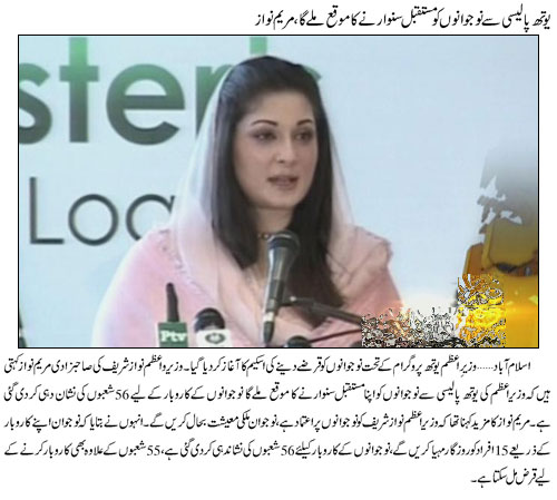 Maryam Nawaz in Youth Qarza Scheme