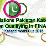 Pakistan Qualify For The Kabaddi World Cup Final 2013