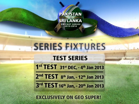 Pakistan Sri Lanka UAE Test Series