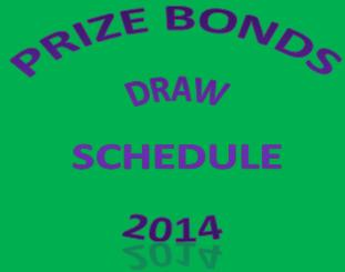 Prizebond Draw Schedule 2014