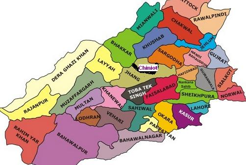 Punjab Districts Map Complete